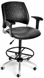 OFM Stars Vinyl Drafting Chair [326-VAM-DK]