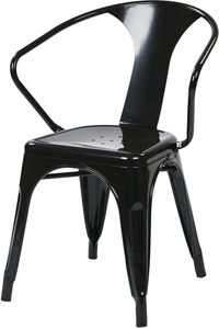 "OSP Designs 30"" Metal Chair Black Set of 4 [PTR2830A4-3]"