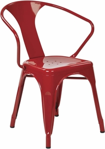 """OSP Designs 30"""" Metal Chair Red Set of 2 [PTR2830A2-9]"""