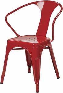"""OSP Designs 30"""" Metal Chair Red Set of 4 [PTR2830A4-9]"""
