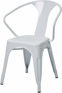 "OSP Designs 30"" Metal Chair White Set of 4 [PTR2830A4-11]"