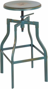 "OSP Designs Eastvale 30"" Metal Barstool Antique Turquoise [ETV30AS-ATQ]"