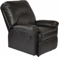 OSP Designs Kensington Recliner Black KNS54-BK
