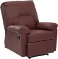 OSP Designs Kensington Recliner Crimson Red KNS54-RD