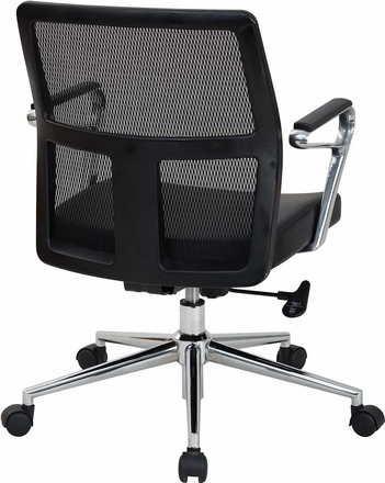 OSP Furniture® Mid Mesh Back Bonded Leather Managers Chair [519117MC-EC3]