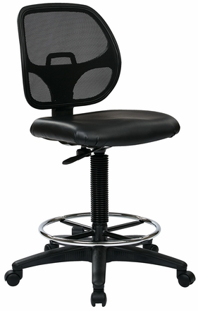 Work Smart Screen Back Mesh Drafting Chair DC2990 [DC2990]