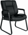 OTG™ Sled Base Luxhide Leather Guest Chair [OTG2782]