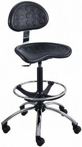 Safco SitStar Adjustable Tractor Seat Stool 6660