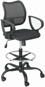 Safco Vue Mesh Back Drafting Stool 3395BL