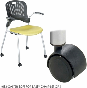 sassy chair soft caster set of 4 4083bl