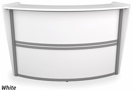 OFM Marque Single Curved Reception Station [55290]