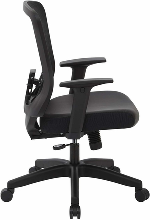 Space Seating® CHX Dark Mesh Bonded Leather Managers Chair [525-E3G3N11]