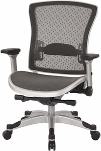 Space Seating® Executive Breathable Mesh Back Chair with Flip Arms [317-R22C6KF6]