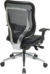 Space Seating® Executive High Back Mesh Chair Leather Seat [818A-41P9C1A8]