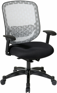 Space Seating® Office Chair White Dura Flex Flow Through Mesh Seat [829-3R1C728P]