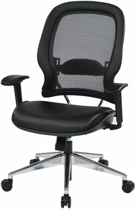 Space Seating® Professional Air Grid® Back Chair Bonded Leather Seat [335-E37P918P]