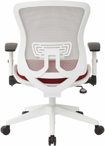 Space Seating® White Mesh Padded Seat Managers Chair [525W-3W1N11F2W]