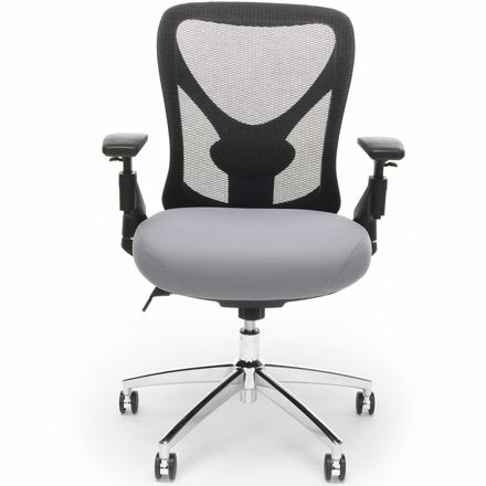 OFM Stratus 24-Hour / Big & Tall Gray Mesh Chair [257-GRY]