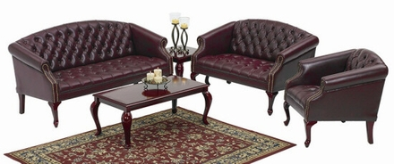 Traditional Queen Ann Loveseat [TSX1122]