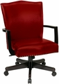 INSPIRED by Bassett Traditional Red Eco Leather Office Chair [BP-MGTC-EC19]