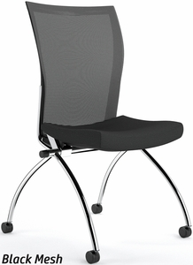 Valore Armless Mesh Back Nesting Chair TSH2