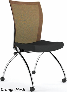 Valore Armless Mesh Back Nesting Chair [TSH2]