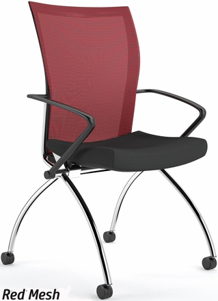 Valore High Back Mesh Folding Chair with Arms [TSH1]