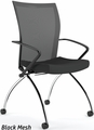 Valore High Back Mesh Folding Chair with Arms TSH1