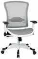 Modern White Frame Mesh Office Chair with Flip Up Arms [317W-W11C1F2W]