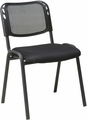 Work Smart� Armless Stacking Chair Black Mesh Set of 2
