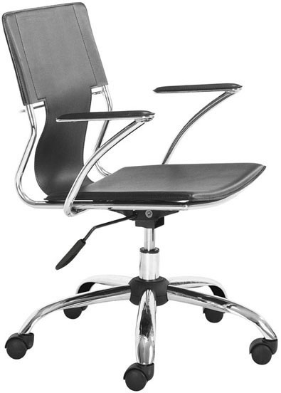Zuo Trafico Office Chair Black Leatherette