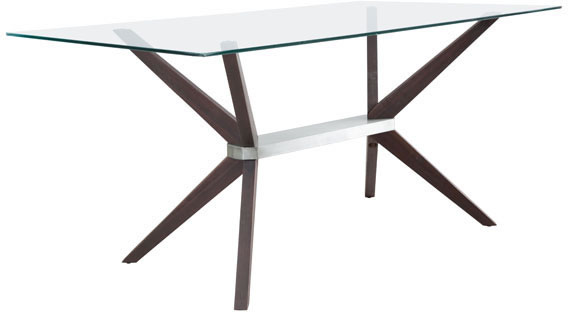 Zuo Victory Conference Table Dark Walnut, Stainless Steel
