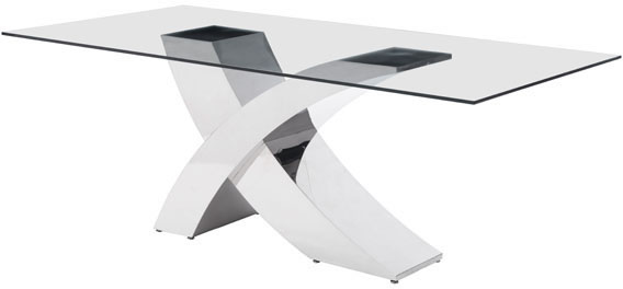 Zuo Wave Conference Table Glass Stainless Steel