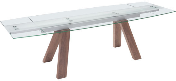 Zuo Wonder Conference Table Walnut, Tempered Glass