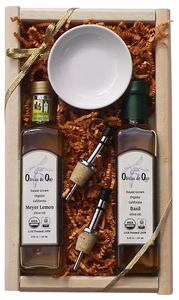 Gift Crate with Rosemary and Meyer Lemon Olive Oil