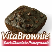 Dark Chocolate Pomegranate VitaBrownies (16 Brownies)*