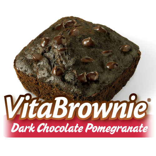 Dark Chocolate Pomegranate VitaBrownies (16 Brownies)