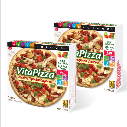 Meatless Pepperoni Supreme VitaPizza (12 Pack)