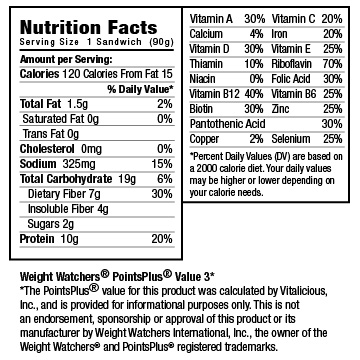 Nutritional Facts for Free VitaEgg Pick Your Own Bundle Pack