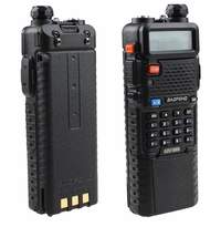 Baofeng Dual Band UV-5R Radio with Upgrade Version 3800mah Battery and Earpiece