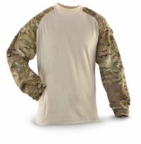 Clearance Multicam Tru-Spec TRU Combat Shirt - GEN II with Khaki Torso