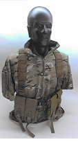 BLOWOUT Custom Light Infantry Patrolling Vest - Coyote Brown - Split Front - M4 Pouches - Hydration