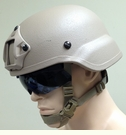 High Ground Gear Thrust ACH/MICH Mid-Cut Helmet - 3-Hole Drilled with Shroud and Ops-Core X-Nape (R)
