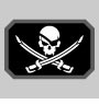 Clearance MSM Pirate Skull Flag Patch