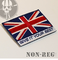 Non-Reg Give It Your Best (UK Flag) Patch