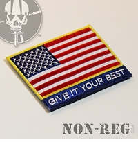 Non-Reg Give It Your Best (US Flag) Patch