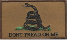 OPT Gadsden Flag Large Patch 3 x 5 inch