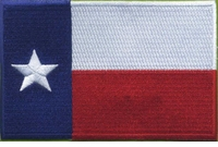 OPT Texas Flag Large Patch 3 x 4.5 Inch