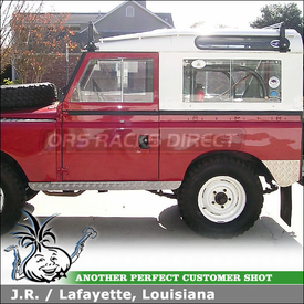 1967 Land Rover 88 Roof Rack using Yakima 1A Hi-Rise RainGutter Roof Rack
