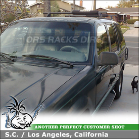 1993 Ford Explorer Roof Rack Surfboard Pads using Yakima Control Towers & Yakima Rack Pads